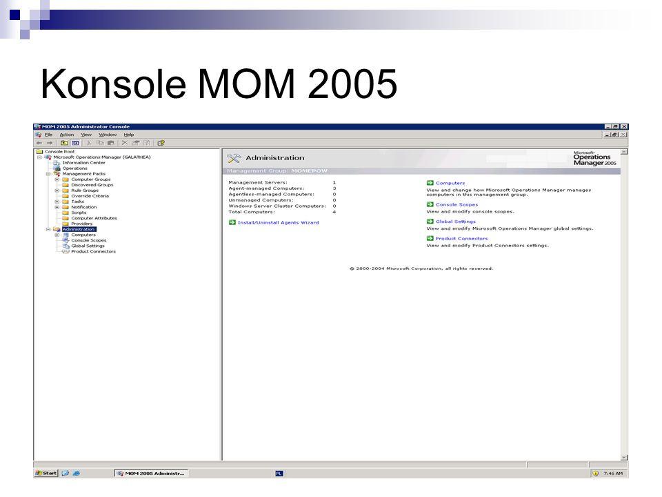 Konsola Operatora (Operator Console) Konsola operatora, będąca aplikacją zbudowana na platformie.NET, jest przeznaczona dla administratorów i operatorów, którzy codziennie monitorują usługi informatyczne i administrują nimi.