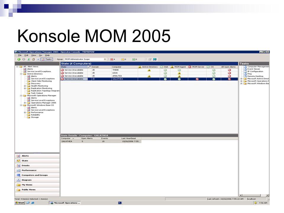 Pakiety Administracyjne Pakiety Administracyjne pozwalają na zdefiniowanie prawidłowego stanu serwera za pomocą różnych elementów.