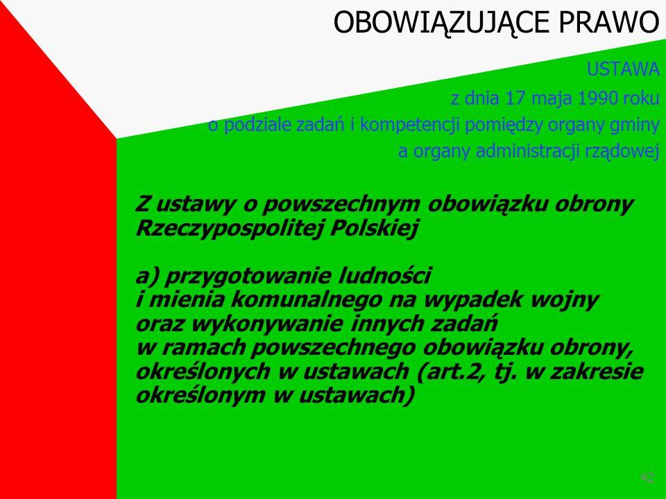 41 Art.3 Do właściwości gminy przechodzą jako zadania zlecone - określone w ustawach - zadania i kompetencje należące dotychczas do rad narodowych i t