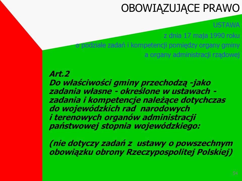 53 Z ustawy o powszechnym obowiązku obrony Rzeczypospolitej Polskiej l) nakładanie obowiązków w ramach powszechnej samoobrony ludności OBOWIĄZUJĄCE PR