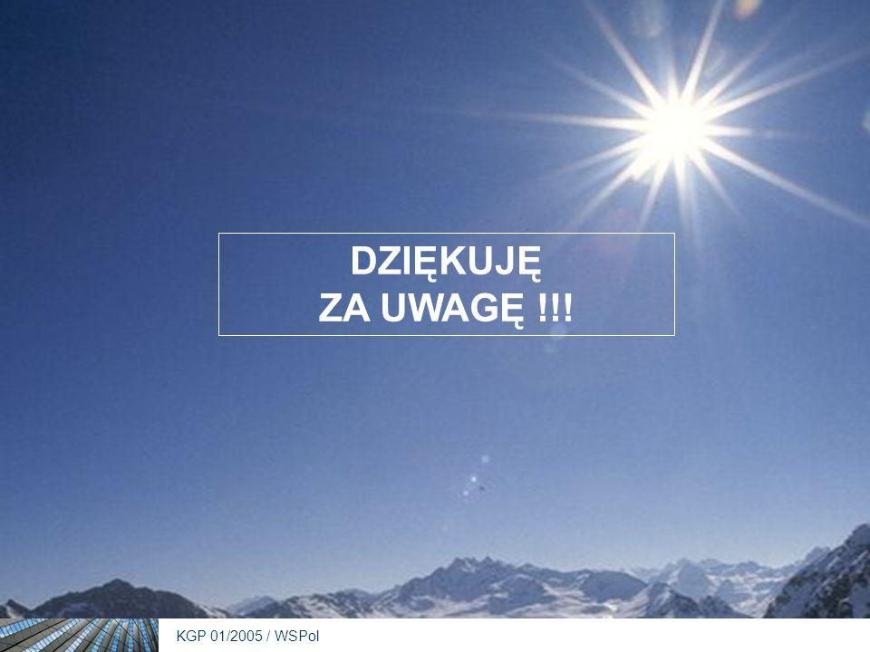 KGP 01/2005 / WSPol DZIĘKUJĘ ZA UWAGĘ !!!