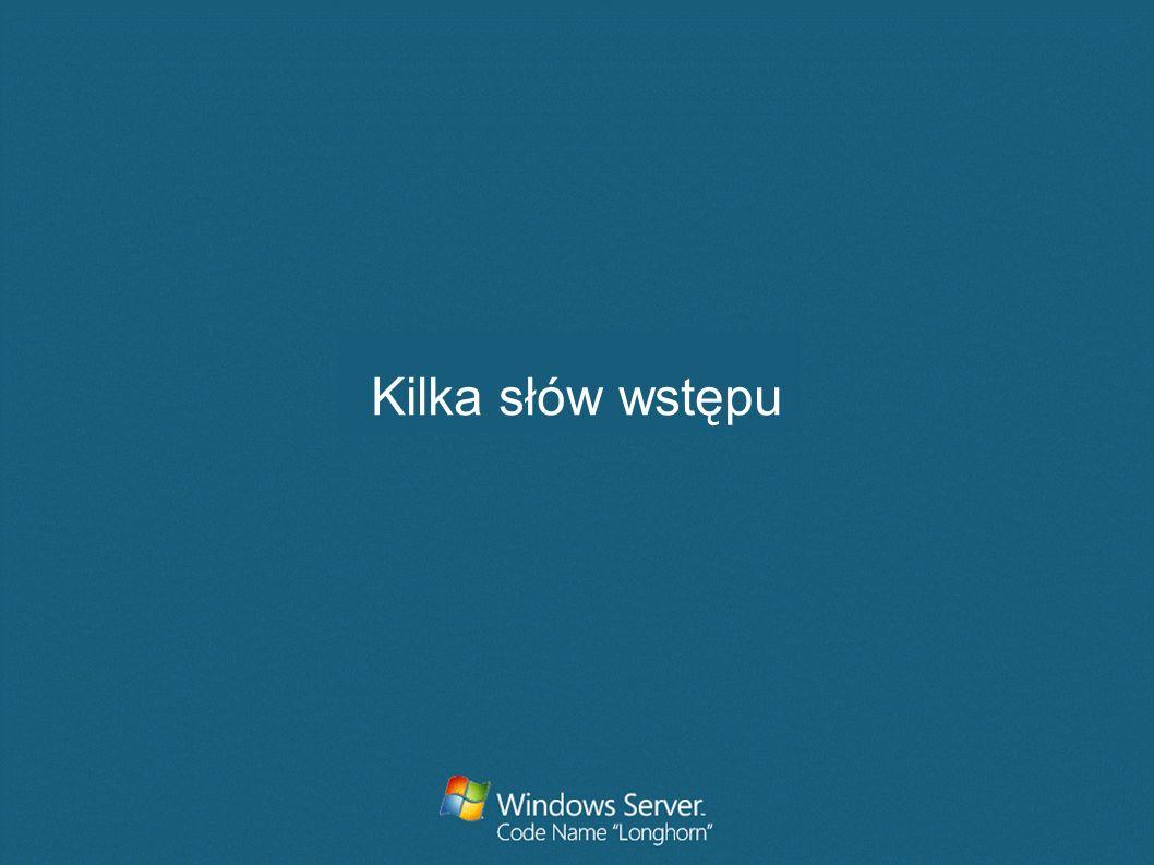 Co to jest usługa terminalowa Usługa zapewniająca zdalny dostęp do serwera z systemem Microsoft® Windows® za pomocą oprogramowania typu klient zubożony Klient pełni rolę emulatora terminala Usługi terminalowe przesyłają do klienta tylko interfejs użytkownika programu, wykonywane na kliencie operacje użycia klawiatury i myszy są przetwarzane przez serwer Każdy użytkownik loguje się i ma dostęp tylko do własnej sesji niezależnej od innych sesji Użytkownicy uruchamiają programy, zapisują pliki i mają dostęp do danych tak jakby zasoby te byly na ich komp.