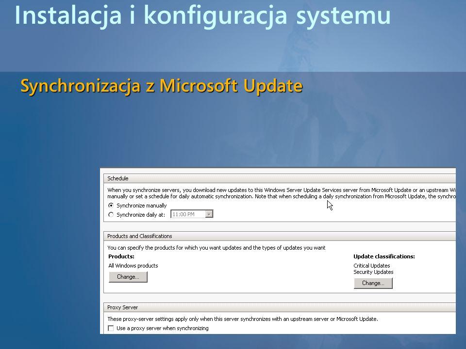 Instalacja i konfiguracja systemu Synchronizacja z Microsoft Update