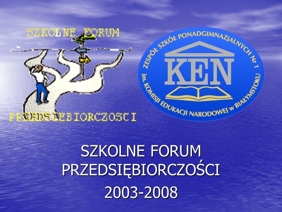 SZKOLNE FORUM PRZEDSIĘBIORCZOŚCI 2003-2008