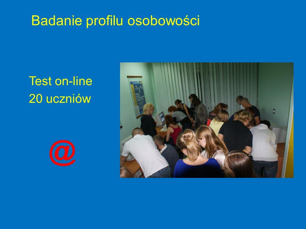 Test on-line 20 uczniów Badanie profilu osobowości @