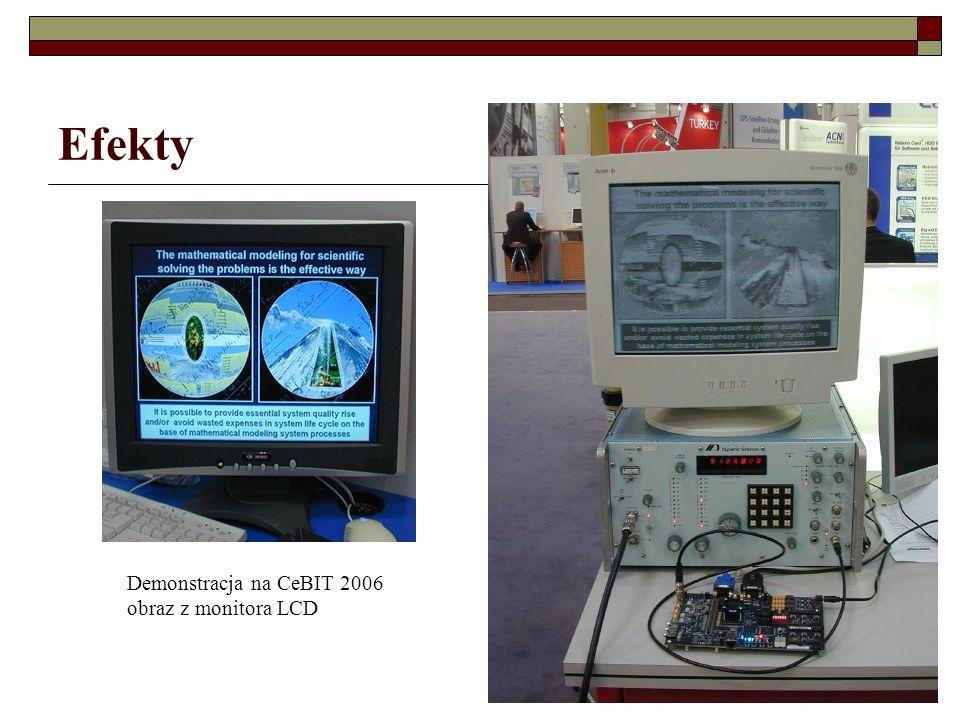Efekty Demonstracja na CeBIT 2006 obraz z monitora LCD