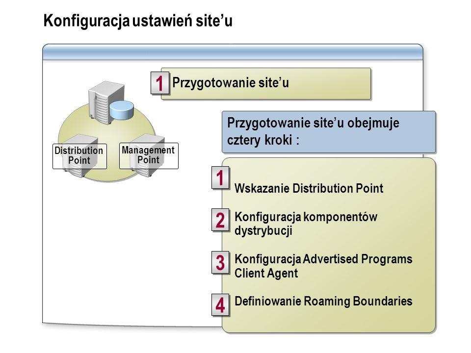 SMS client runs software distribution Module 8, Lesson 5 SMS client runs software distribution Module 8, Lesson 5 3 3 Advanced Client Konfiguracja ust