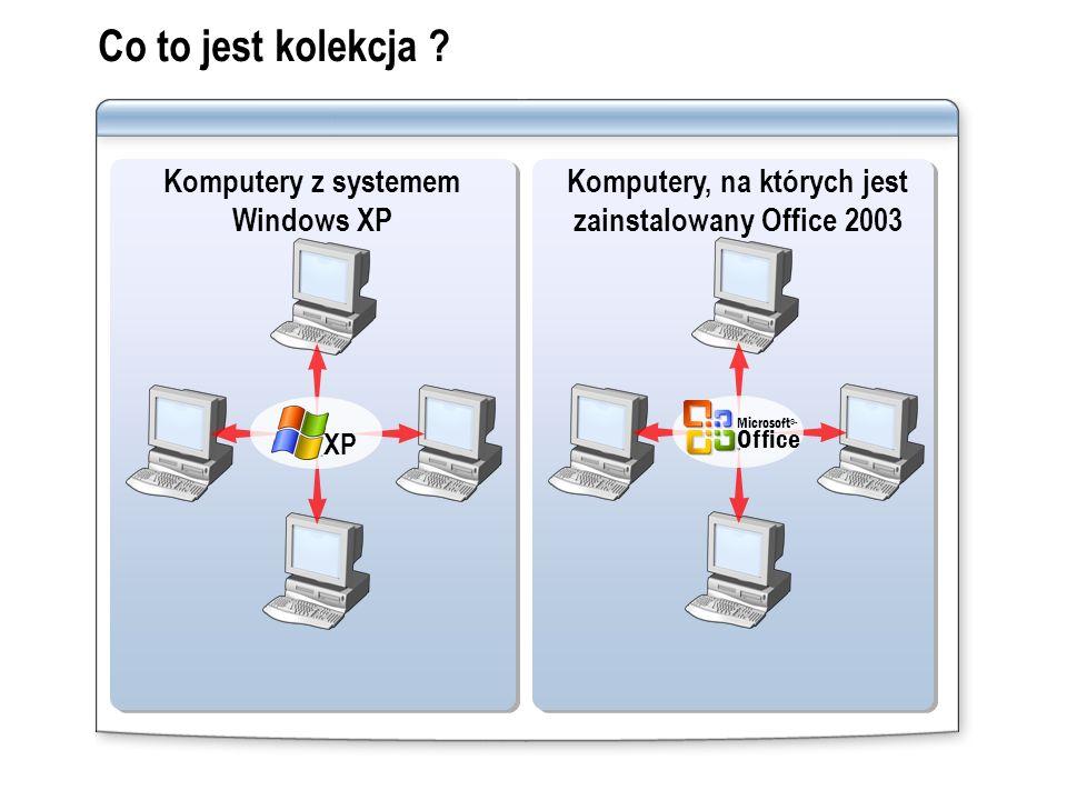 Co to jest kolekcja ? Komputery z systemem Windows XP Komputery, na których jest zainstalowany Office 2003 Microsoft ® Office XP