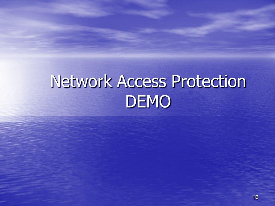 15 NAP – Korzyści CechaWsparcieKorzyści Wbudowany klient Windows Vista, Windows XP Nie ma potrzeby uruchamiania innych klientów Nie ma potrzeby uruchamiania innych klientów Poprawki za pomocą WUS / WSUS / SMS Poprawki za pomocą WUS / WSUS / SMS Łatwe wymuszanie DHCP, VPN, 802.1x, Terminal Services, Server and Domain isolation Współpracuje z współczesnymi sieciami Współpracuje z współczesnymi sieciami Możliwość wymuszania Większość urządzeń typu switch / router / firewall / VPN Można korzystać z dowolnego typu sieci Ocena zdrowia SMS, WUS, SecurityCenter, 3 rd party Pełna integracja z infrastrukturą Windows Pełna integracja z infrastrukturą Windows Współpracuje z każdym rozwiązaniem AV, PM etc.