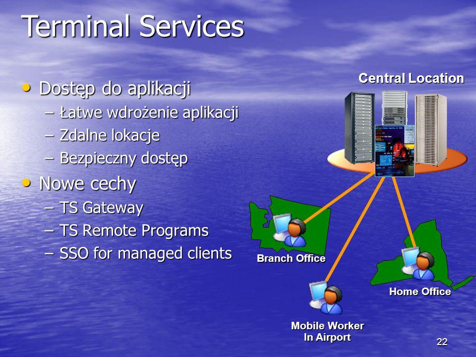 21 Nowe możliwości Usług Terminalowych