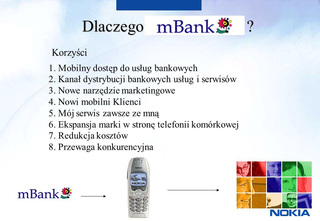 Dlaczego . Korzyści 1. Mobilny dostęp do usług bankowych 2.