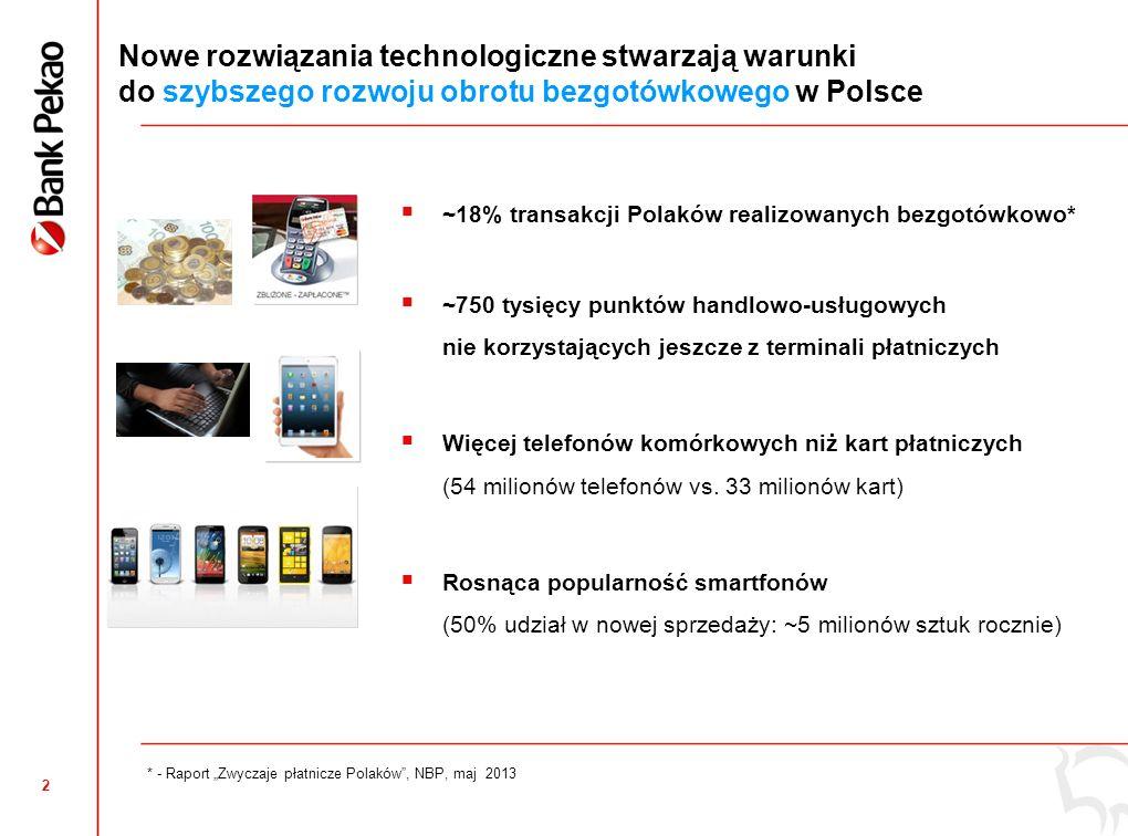 1 Dynamiczny rozwój bankowości mobilnej w Banku Pekao Liczba klientów detalicznych korzystających z bankowości mobilnej (tys.) +112% Kompleksowa oferta bankowości mobilnej Bankowość mobilna dla klientów indywidualnych Bankowość mobilna dla firm Eurokonto mobilne Mobilny planer zakupów Mobilny portal pożyczek i kredytów hipotecznych Nagradzana i doceniana przez ekspertów (2012) Wygoda i szybkość – bankowość w telefonie zawsze pod ręką !
