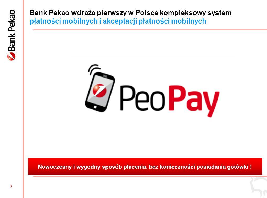 2 Nowe rozwiązania technologiczne stwarzają warunki do szybszego rozwoju obrotu bezgotówkowego w Polsce ~18% transakcji Polaków realizowanych bezgotówkowo* ~750 tysięcy punktów handlowo-usługowych nie korzystających jeszcze z terminali płatniczych Więcej telefonów komórkowych niż kart płatniczych (54 milionów telefonów vs.