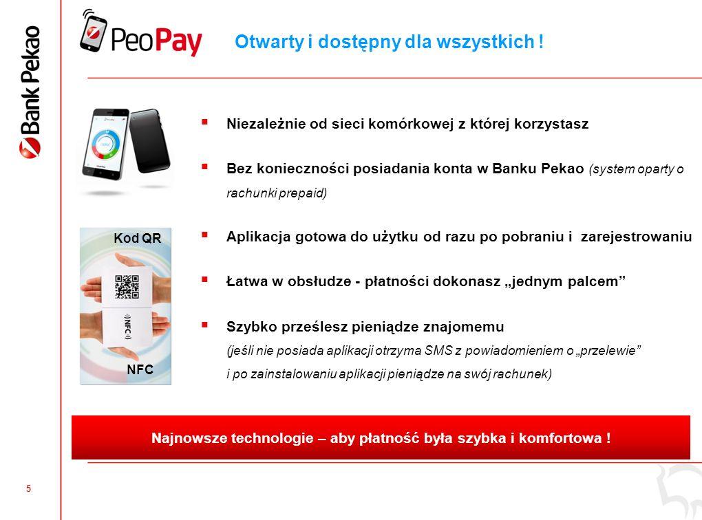4 Nowa jakość płatności mobilnych Zakupy w sklepie bez gotówki lub karty płatniczej Płacenie w internecie nigdy nie było tak wygodne Przesłanie pienię