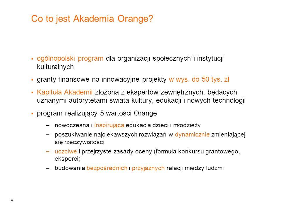 9 Co wniesie Akademia Orange.