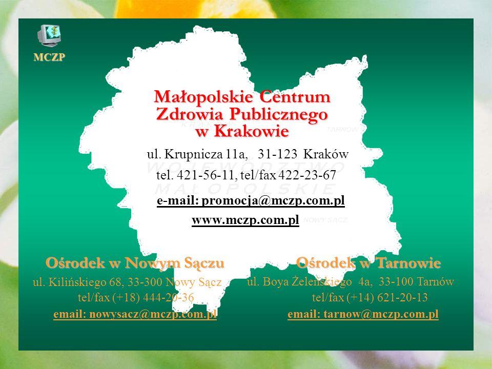 MCZP Realizacja celów NPZ Sprawozdanie z realizacji Narodowego Programu Zdrowia w samodzielnych publicznych zakładach opieki zdrowotnej za lata 1999 i 2000 Sprawozdanie z realizacji Narodowego Programu Zdrowia w powiatach Małopolski za lata 2001 i 2002 Sprawozdanie z realizacji Narodowego Programu Zdrowia w powiatach i gminach Małopolski za rok 2003