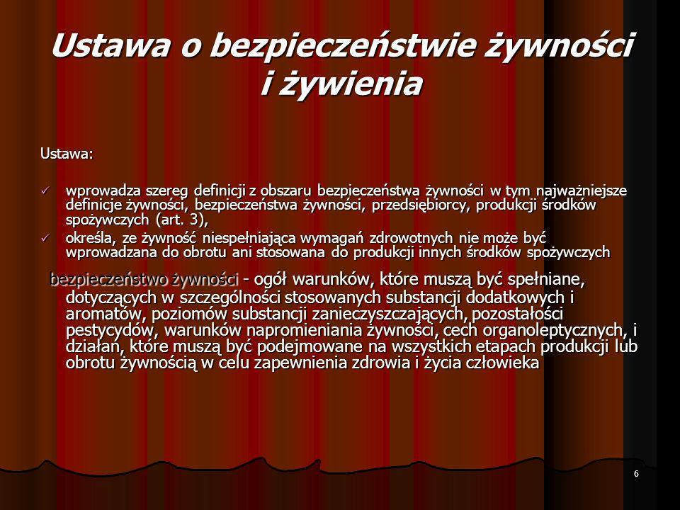 Ustawy weterynaryjne 1.USTAWA z dnia 29 stycznia 2004 r.