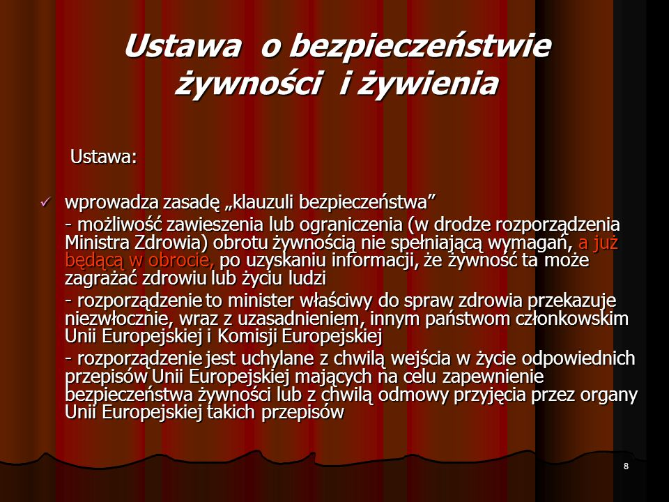 Rozporządzenie 178/2002 Komisji Europejskiej i Rady art.