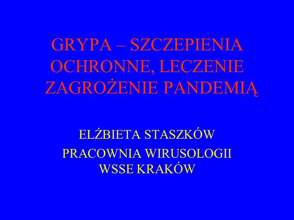 Grypa: Jedna z najczęściej występujących chorób zakaźnych na świecie Jedno z najpoważniejszych zagrożeń zdrowia publicznego na świecie Pierwsze zapiski o epidemiach grypy pochodzą z 412 r.p.n.e.