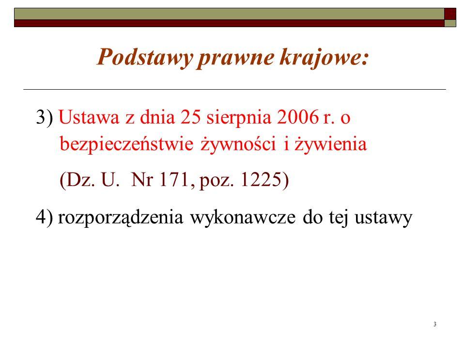 3 Podstawy prawne krajowe: 3) Ustawa z dnia 25 sierpnia 2006 r.