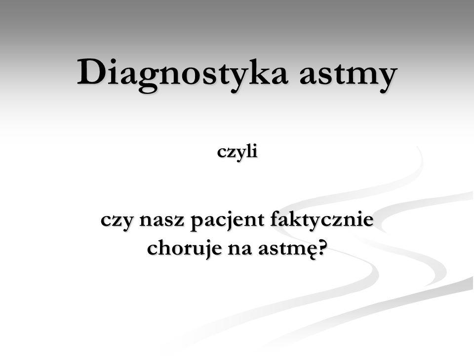Diagnostyka astmy czyli czy nasz pacjent faktycznie choruje na astmę?