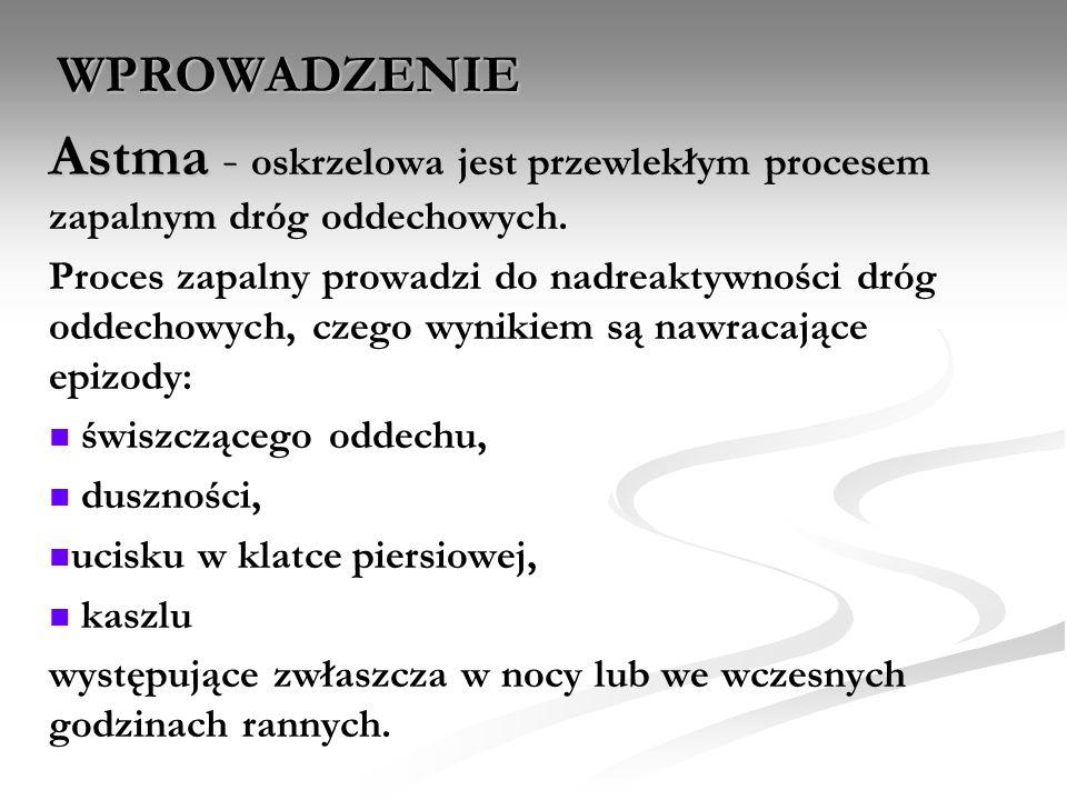 DIAGNOSTYKA ASTMY – cd.
