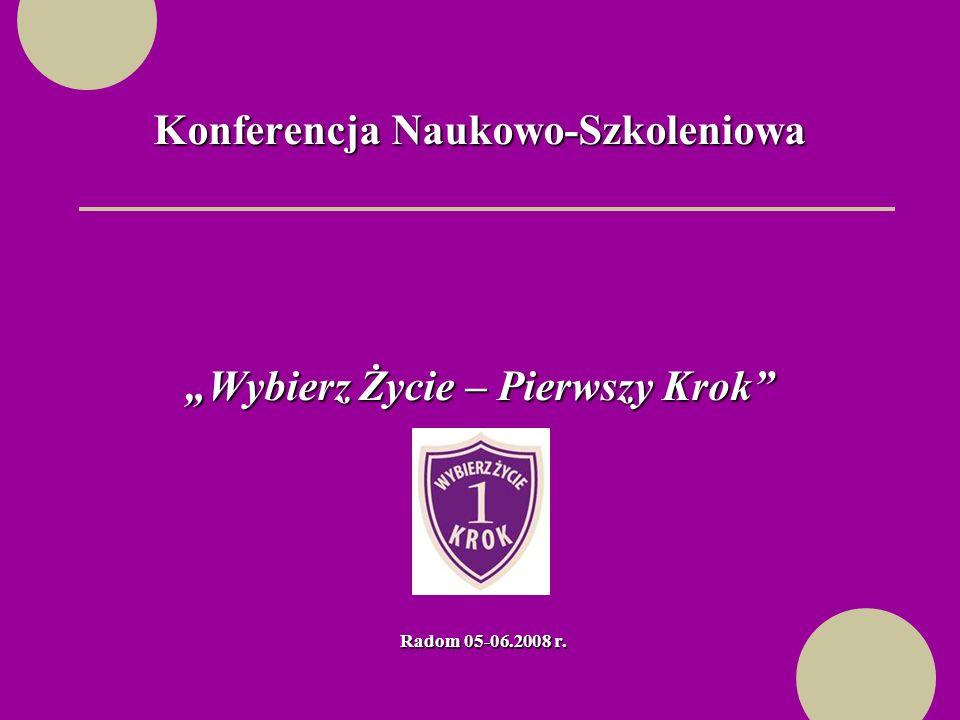 Konferencja Naukowo-Szkoleniowa Wybierz Życie – Pierwszy Krok Radom 05-06.2008 r.