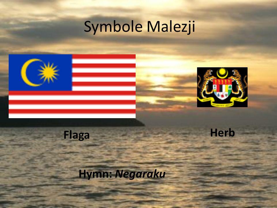Krótkie informacje ogólne Język urzędowy – malajski Stolica – Kuala Lumpur Ustrój polityczny – monarchia konstytucyjna Głowa państwa - Yang di-Pertuan Agong Tuanku Mizan Zainal Abidin Szef rządu – Premier Abdullah Ahmad Badawi Powierzchnia – -całkowita : 329 750 km² -wody śródlądowe : ~0,3%