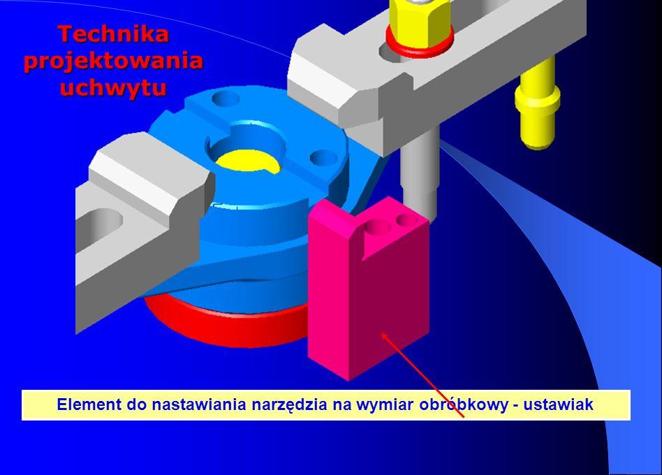 Element do nastawiania narzędzia na wymiar obróbkowy - ustawiak Technika projektowania uchwytu