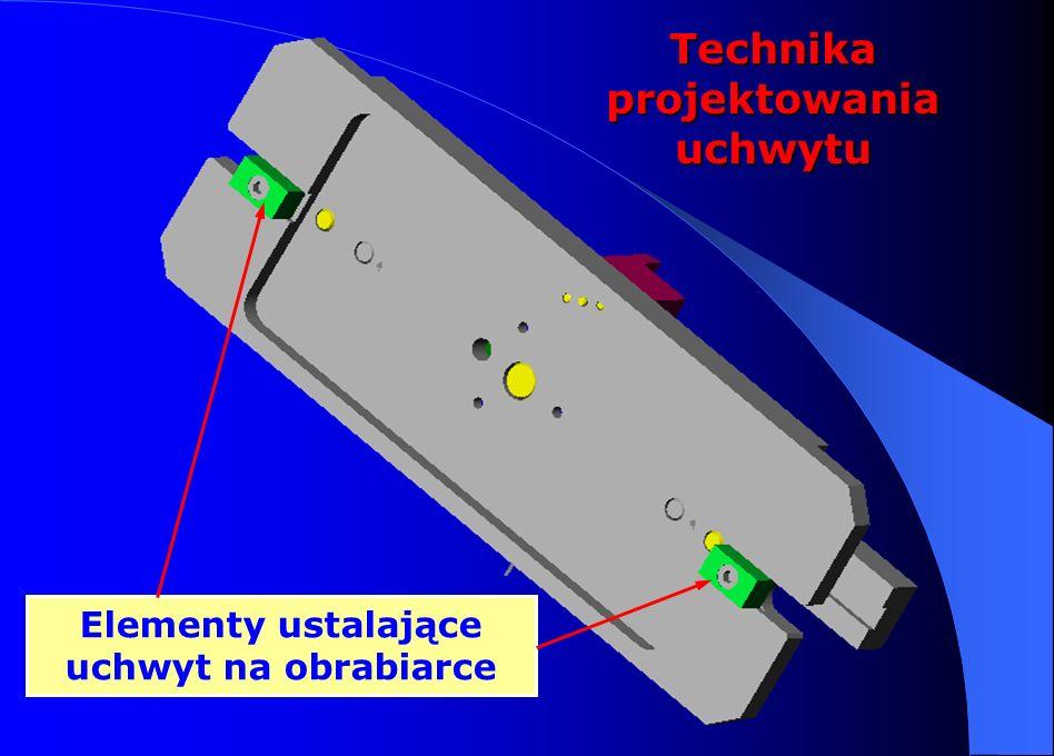 Technika projektowania uchwytu Elementy ustalające uchwyt na obrabiarce