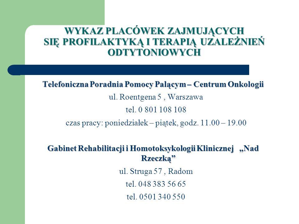 Sekcja Oświaty Zdrowotnej i Promocji Zdrowia PSSE Radom ul.