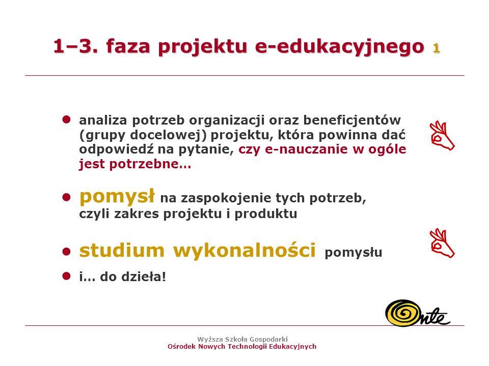 Wyższa Szkoła Gospodarki Ośrodek Nowych Technologii Edukacyjnych 1–3.