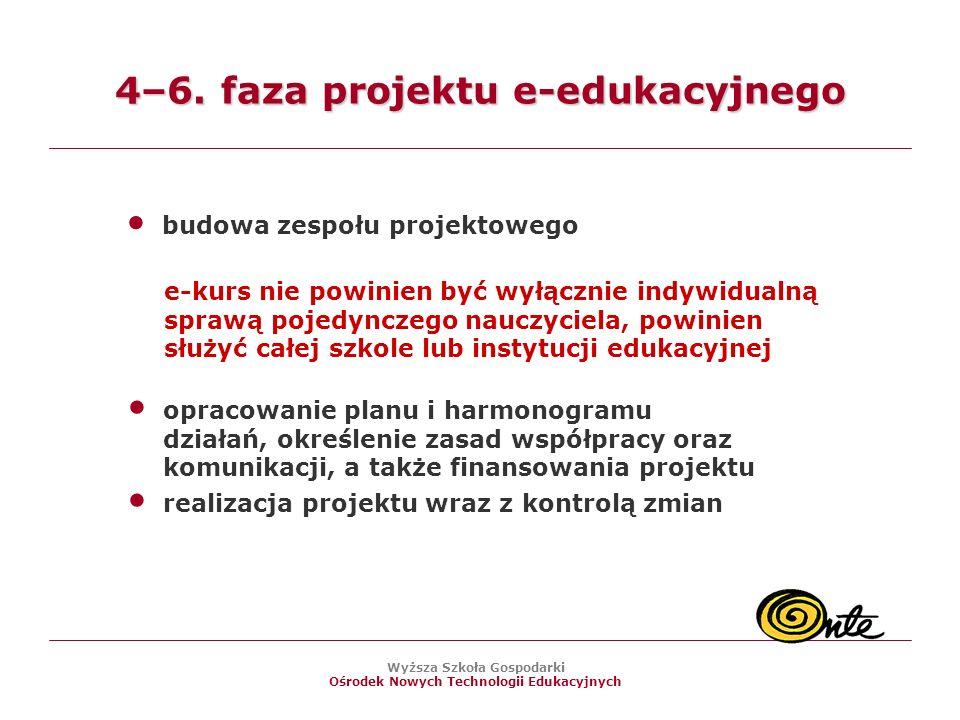 Wyższa Szkoła Gospodarki Ośrodek Nowych Technologii Edukacyjnych 4–6.