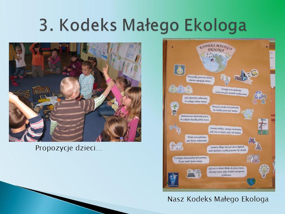 Propozycje dzieci… Nasz Kodeks Małego Ekologa