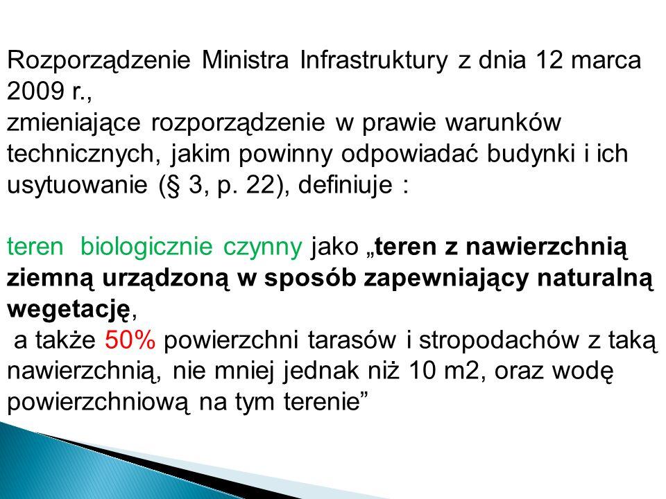 Rozporządzenie Ministra Infrastruktury z dnia 12 marca 2009 r., zmieniające rozporządzenie w prawie warunków technicznych, jakim powinny odpowiadać bu