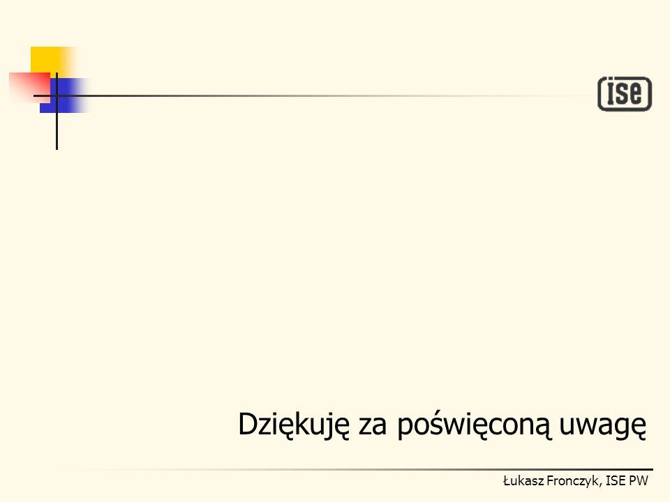 Łukasz Fronczyk, ISE PW Dziękuję za poświęconą uwagę