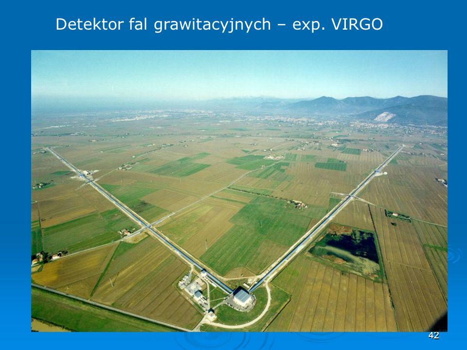 42 Detektor fal grawitacyjnych – exp. VIRGO