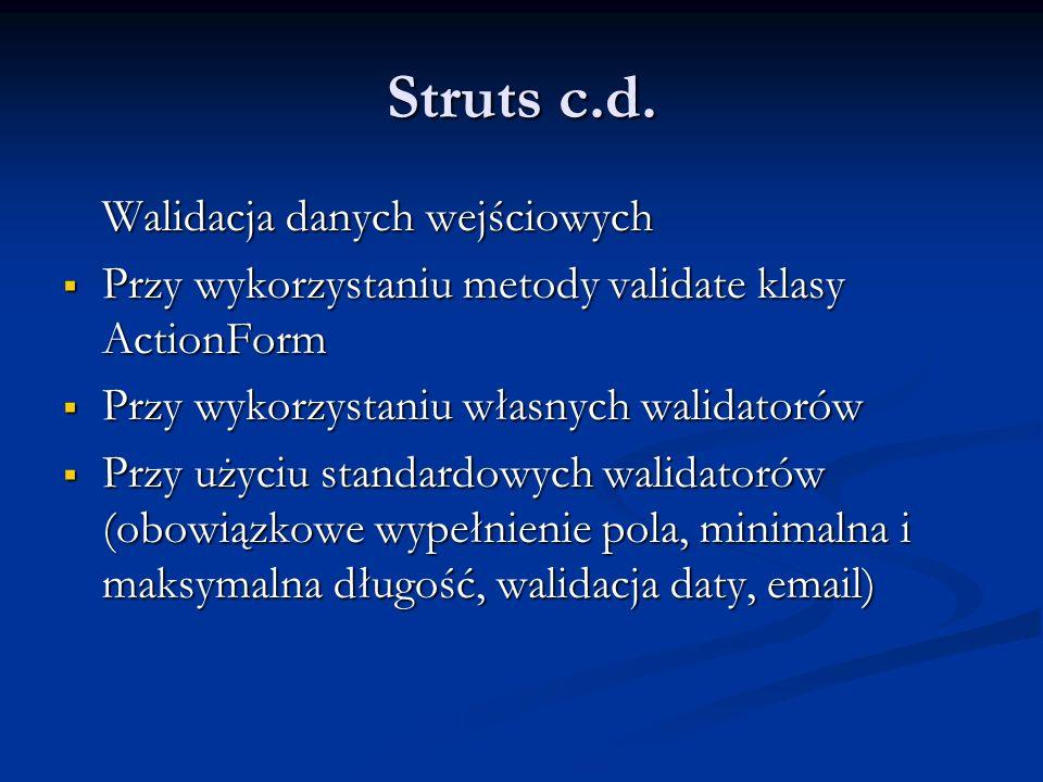 Struts c.d.