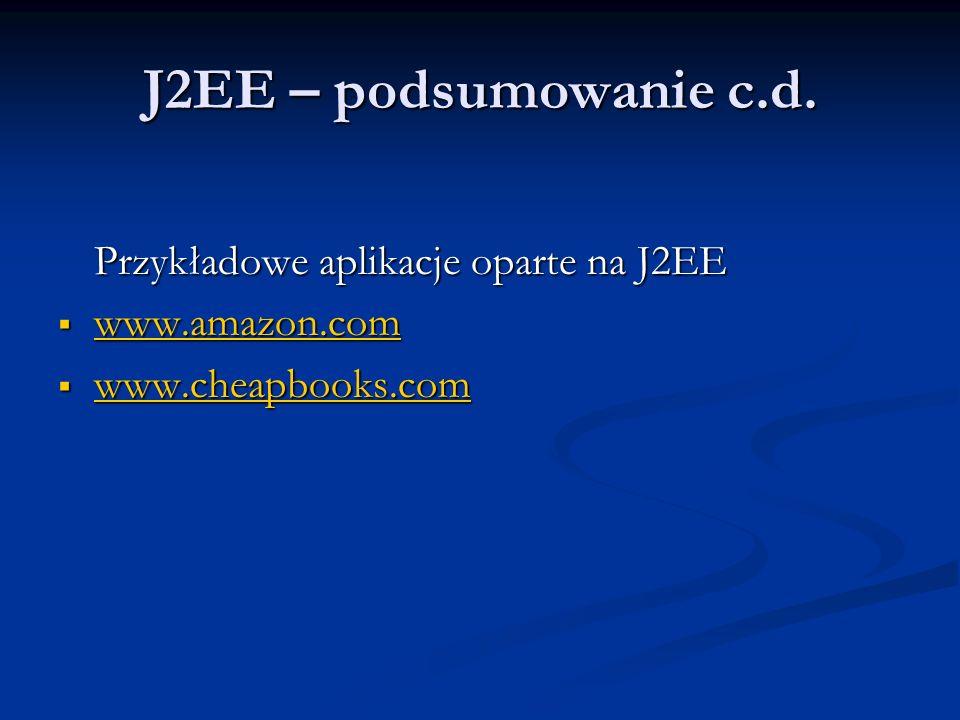 J2EE – podsumowanie c.d.