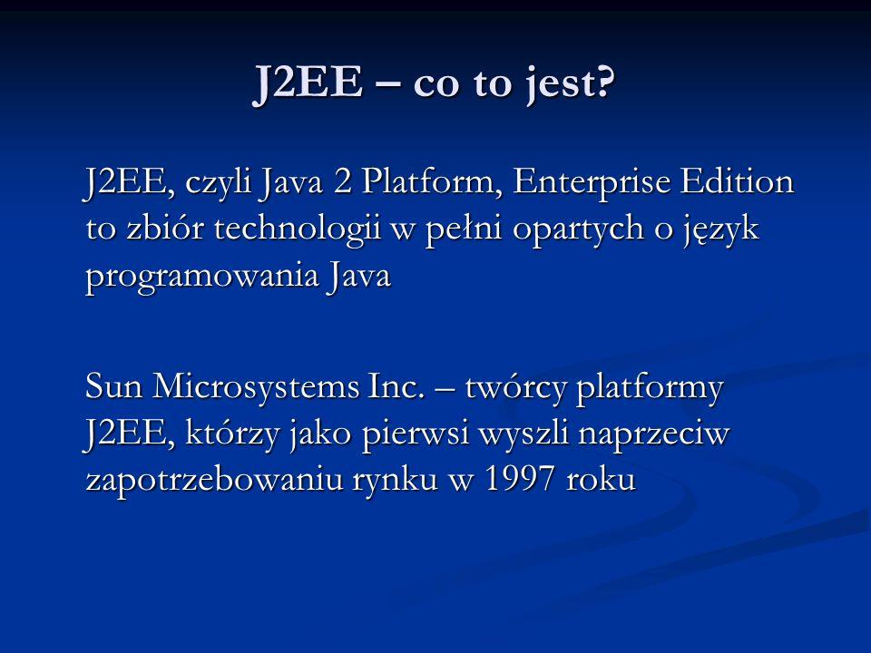 J2EE – co to jest.