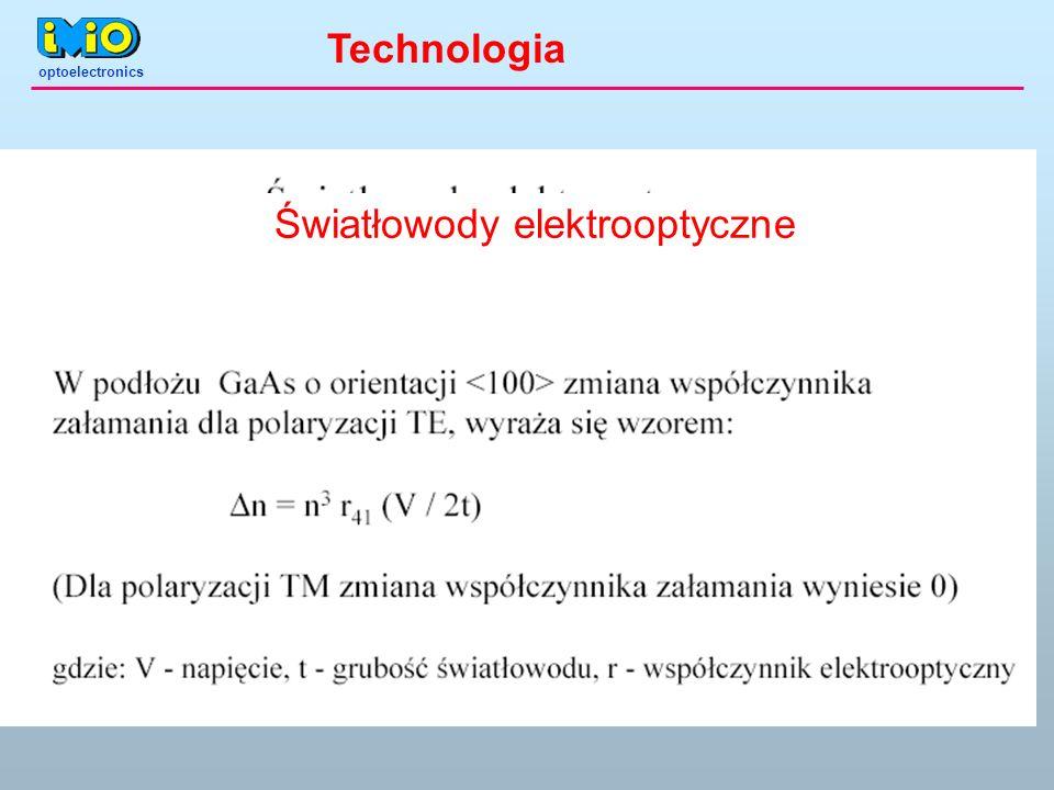optoelectronics Światłowody elektrooptyczne Technologia