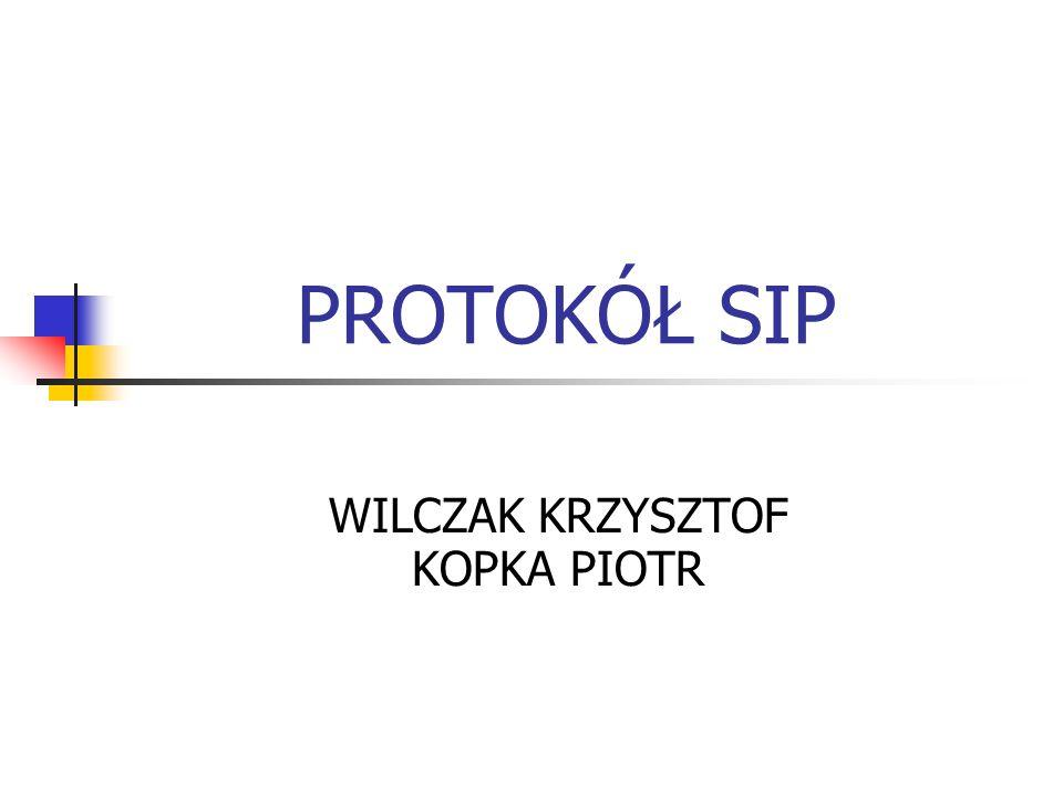 INFORMACJE WSTĘPNE SIP (Sesion Initiation Protocol) to protokół sygnalizacyjny, odpowiedzialny za tworzenie, zamykanie i modyfikację sesji multimedialnych pomiędzy jednym lub wieloma klientami przez sieć Internet.