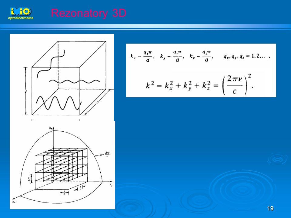 19 optoelectronics Rezonatory 3D
