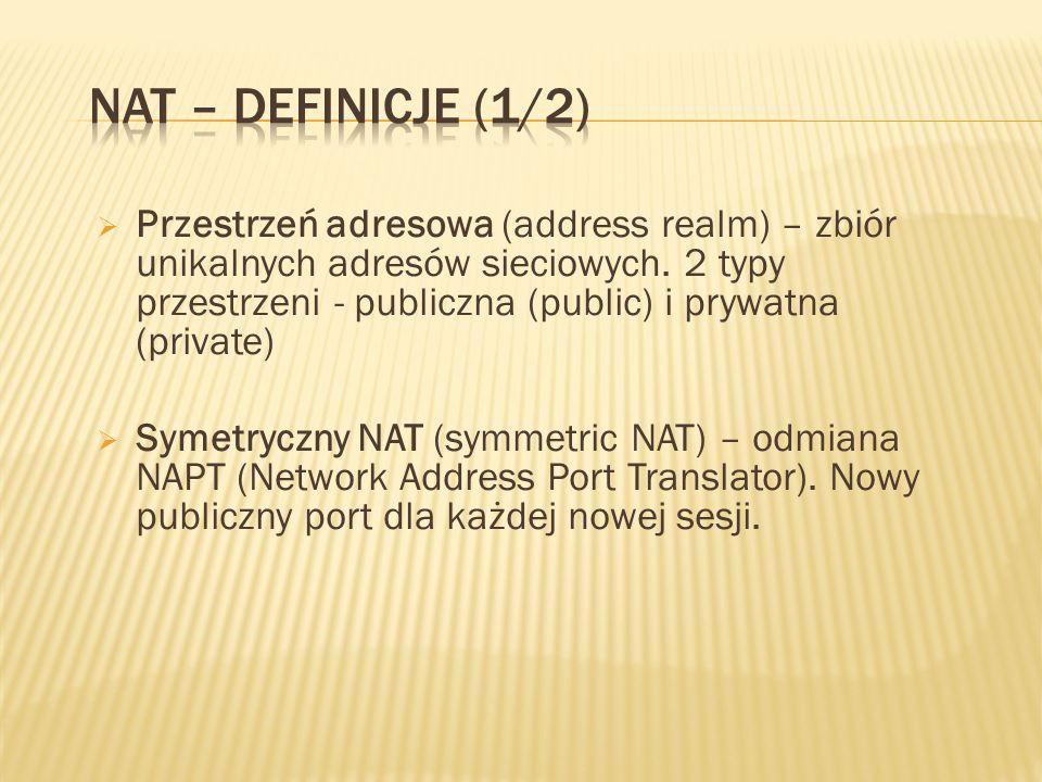 Przestrzeń adresowa (address realm) – zbiór unikalnych adresów sieciowych.