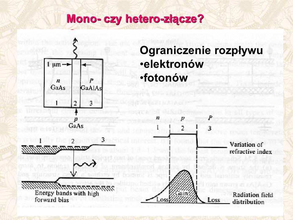 Mono- czy hetero-złącze? Ograniczenie rozpływu elektronów fotonów