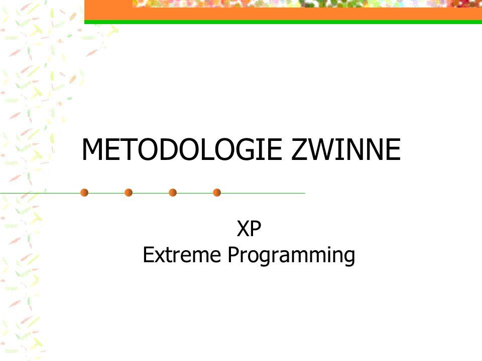 METODOLOGIE ZWINNE XP Extreme Programming