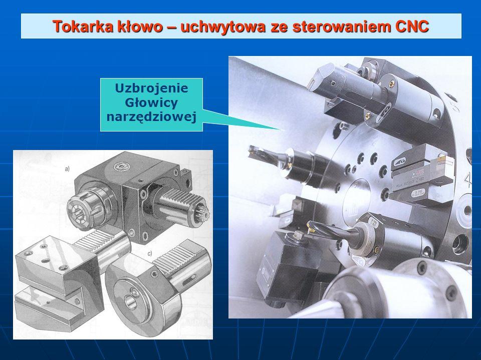 Tokarka kłowo – uchwytowa ze sterowaniem CNC Uzbrojenie Głowicy narzędziowej