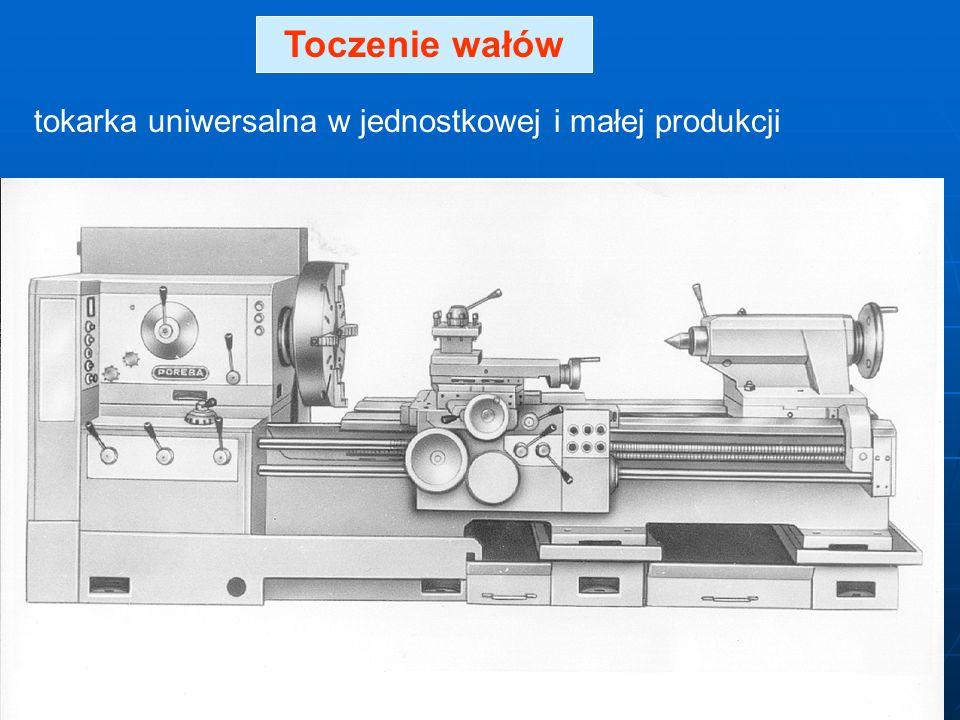 Toczenie wałów tokarka uniwersalna w jednostkowej i małej produkcji
