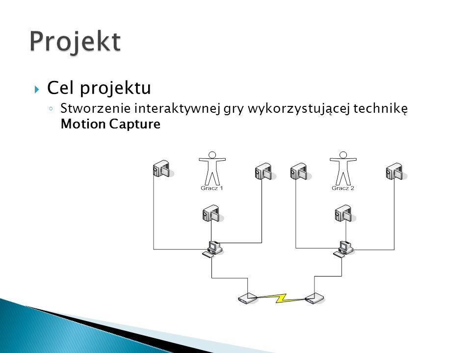 Cel projektu Stworzenie interaktywnej gry wykorzystującej technikę Motion Capture