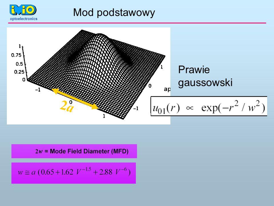 optoelectronics Mod podstawowy Prawie gaussowski